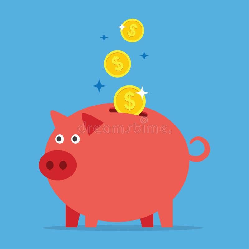 Download Mealheiro com moedas ilustração do vetor. Ilustração de econômico - 80100387