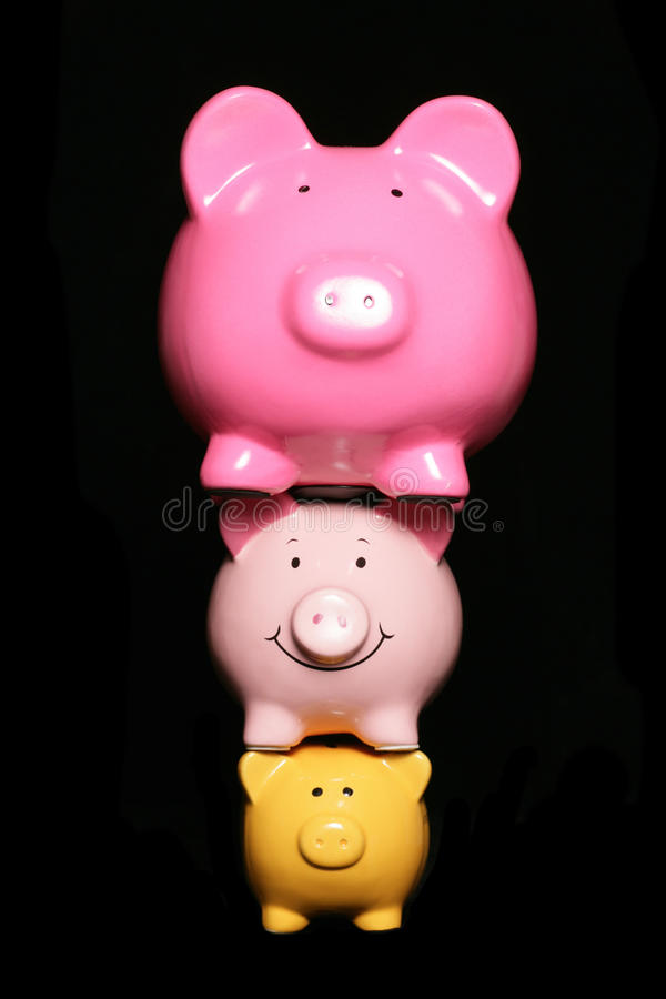 Mealheiros da pressão financeira foto de stock