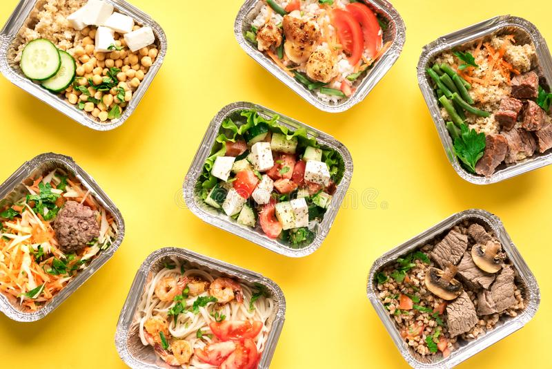 Daily meals delivery royalty free stock photos