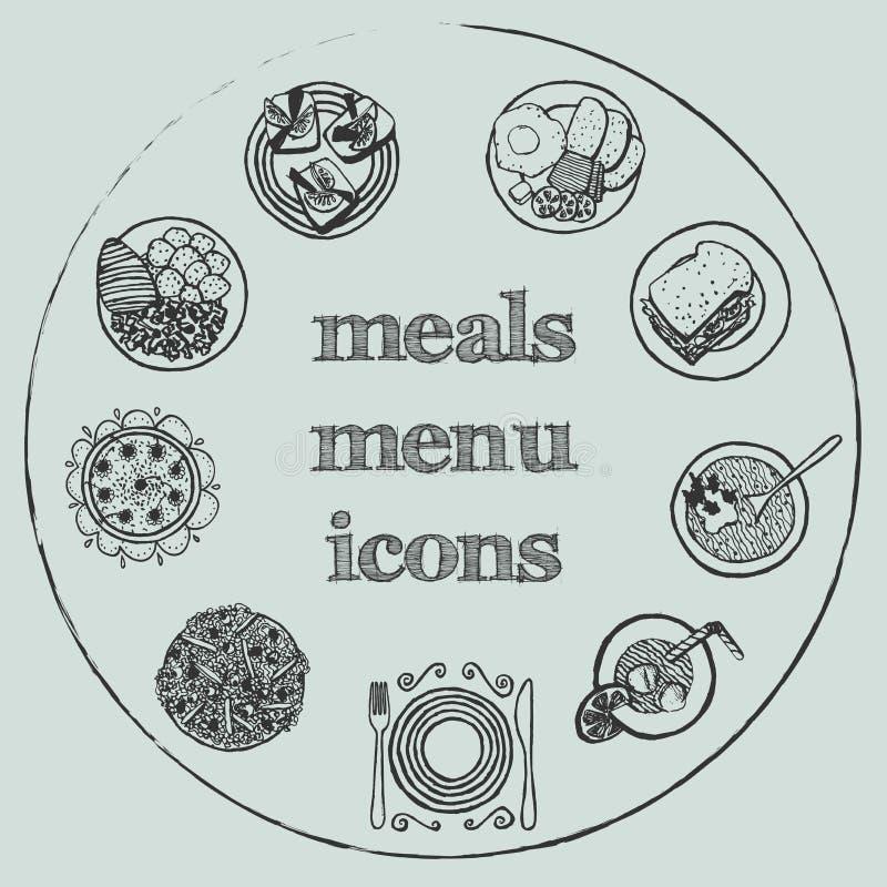Meals menu elements - icons set 2 stock photography
