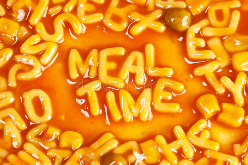 Download Mealtime stock photo. Image of writing, word, mealtime - 18974152