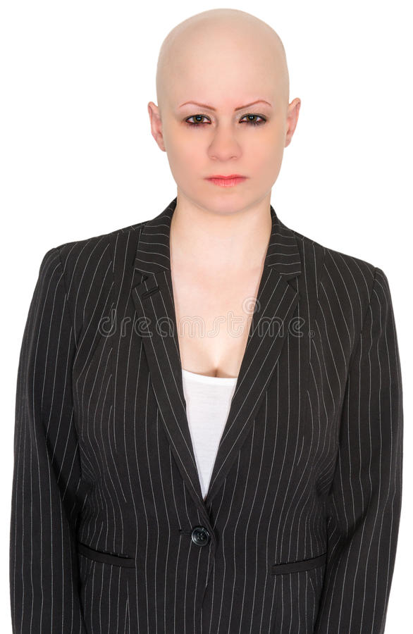 Mean Angry Business Woman, Isolated stock photo