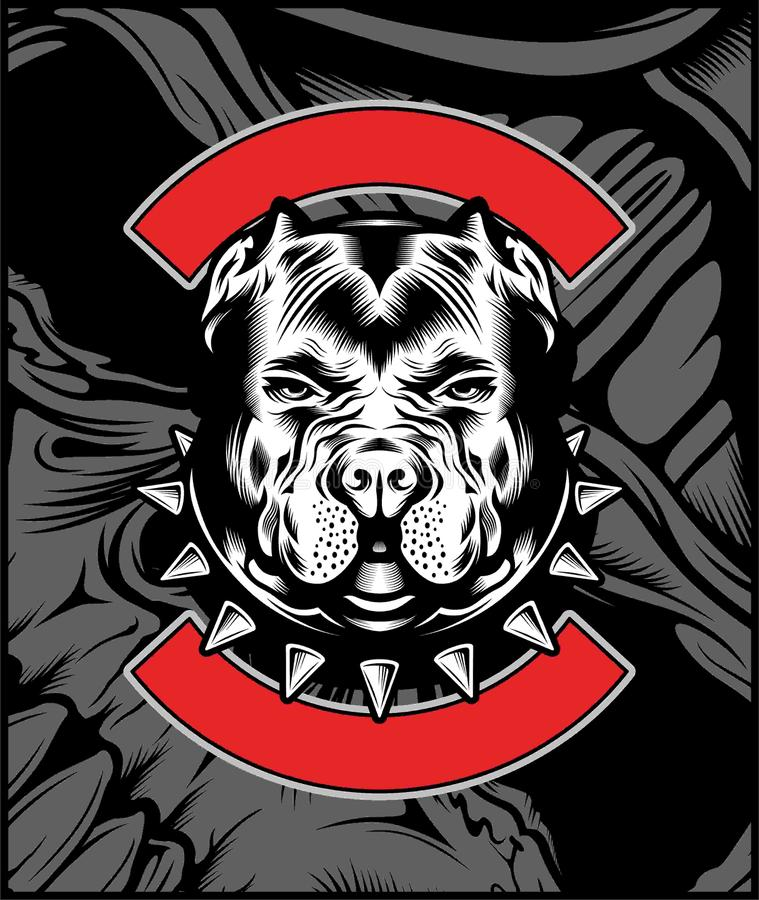Mean Bulldog Mascot Illustration vector stock illustration