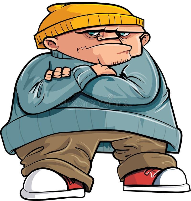 Mean cartoon bully boy stock illustration