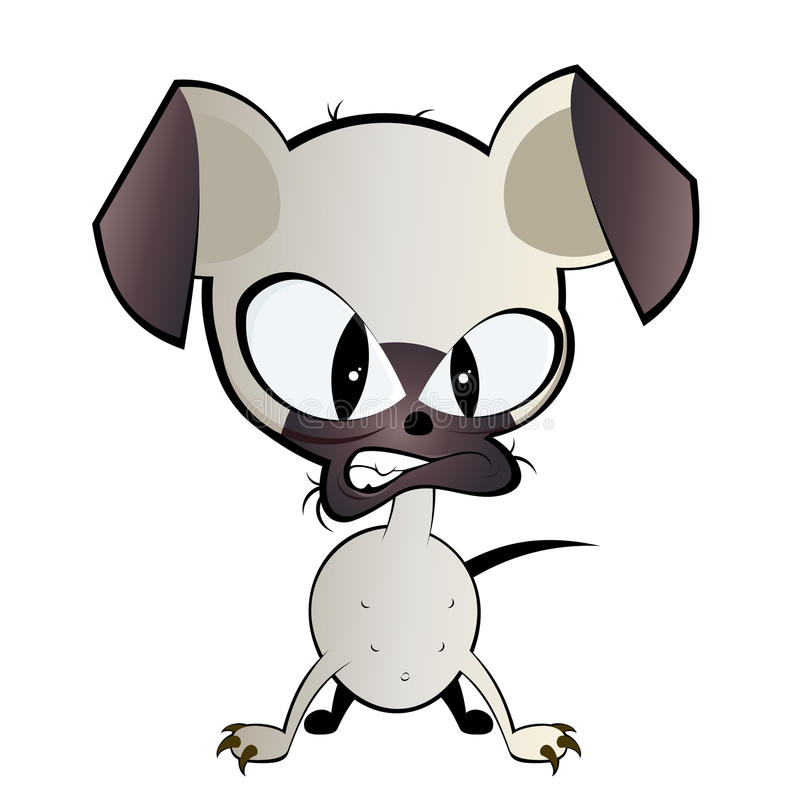 Mean dog illustration royalty free illustration