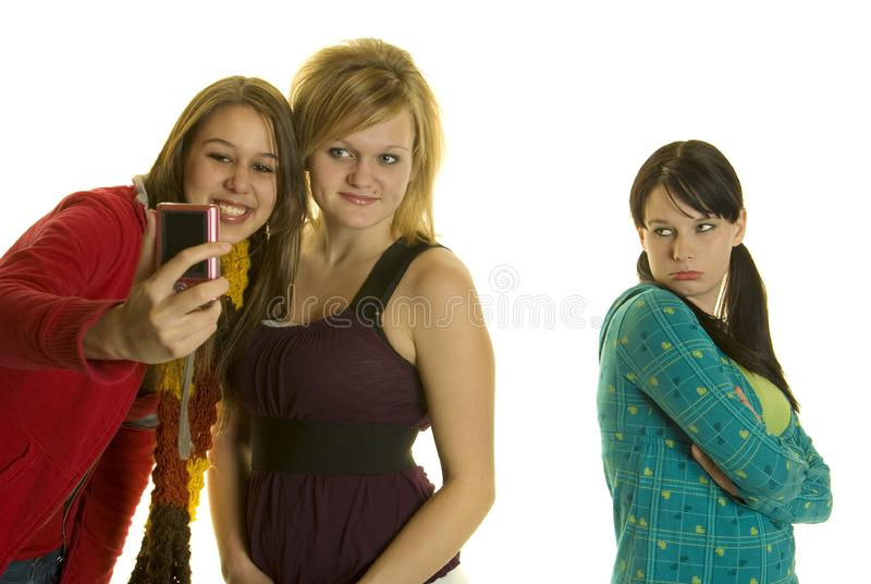 Download Mean Girls Take Photos With Cellphone Stock Image - Image: 8178369