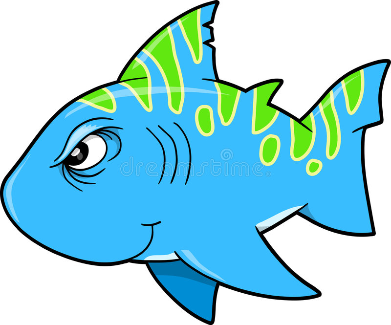 Download Mean Tough Shark Vector stock vector. Image of tough, isolated - 9205505