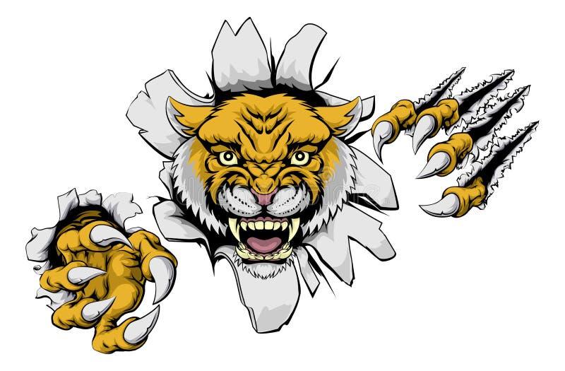 Mean Wildcat Mascot vector illustration