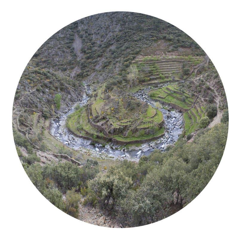 Meander in Las Hurdes royalty-vrije stock fotografie