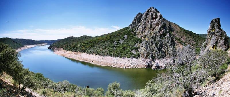 Meander van de rivier van Taag royalty-vrije stock afbeelding