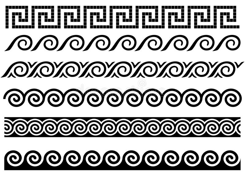 Download Meander And Wave. Ancient Greek Ornament. Stock Vector - Image: 16349204