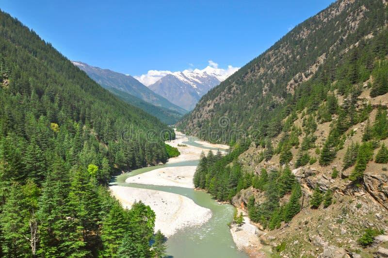 Meandering święta Ganga rzeka obrazy royalty free
