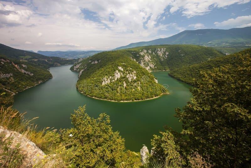 Meandro del fiume Vrbas immagini stock