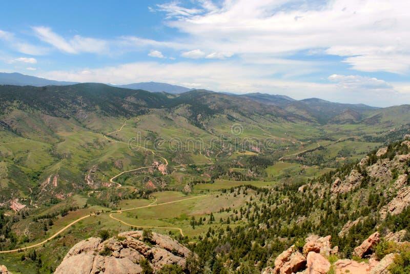 Meandrować ślada w Kolorado dolinie fotografia royalty free