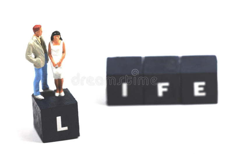 The meaning of life stock photos