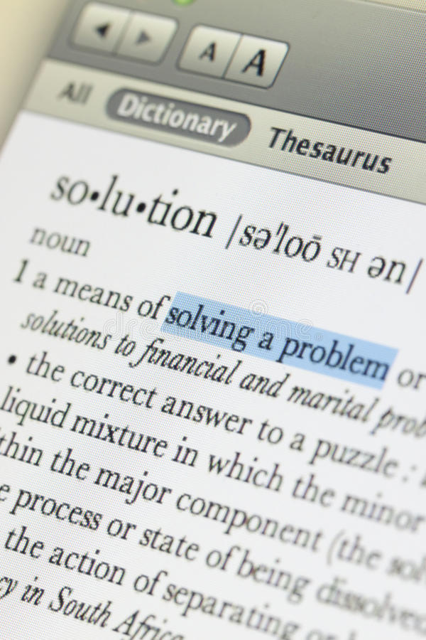 Download Meaning Of Solution Royalty Free Stock Photos - Image: 15278788