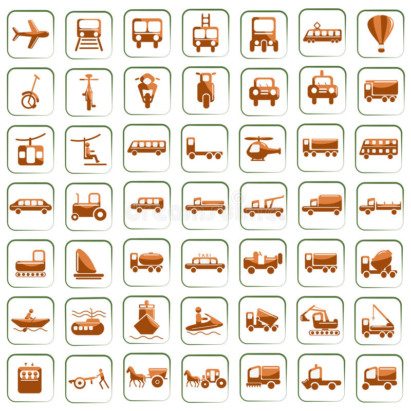 Download Means of Transport stock vector. Image of logistics, cargo - 24122677