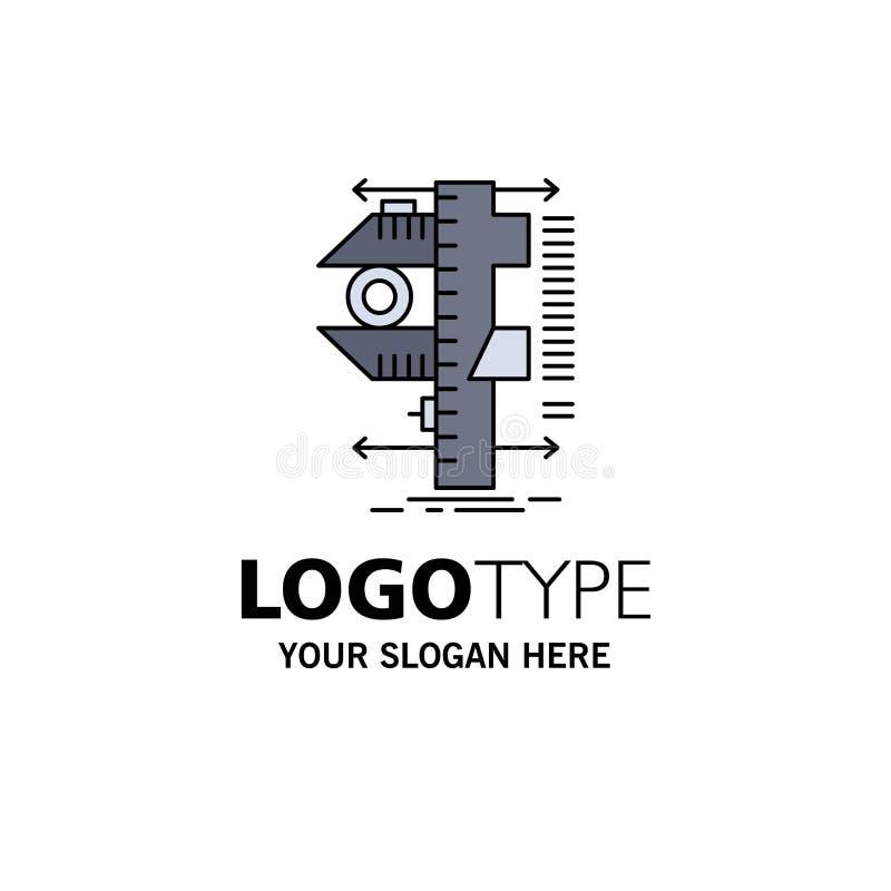 Measure, caliper, calipers, physics, measurement Flat Color Icon Vector vector illustration