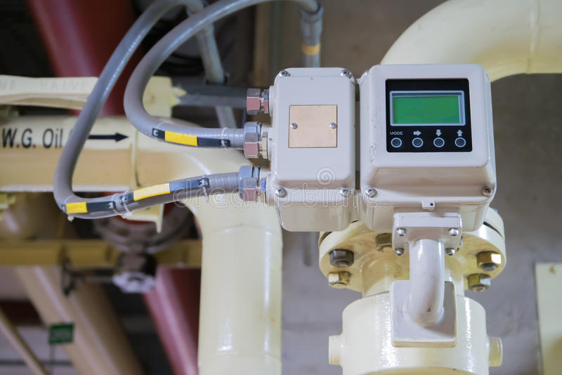 Measure the flow of fluids. Devices measure the flow of fluids royalty free stock images