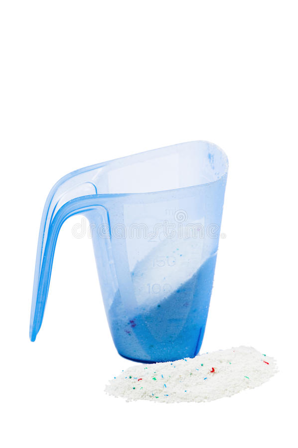 Measure with laundry powder stock images