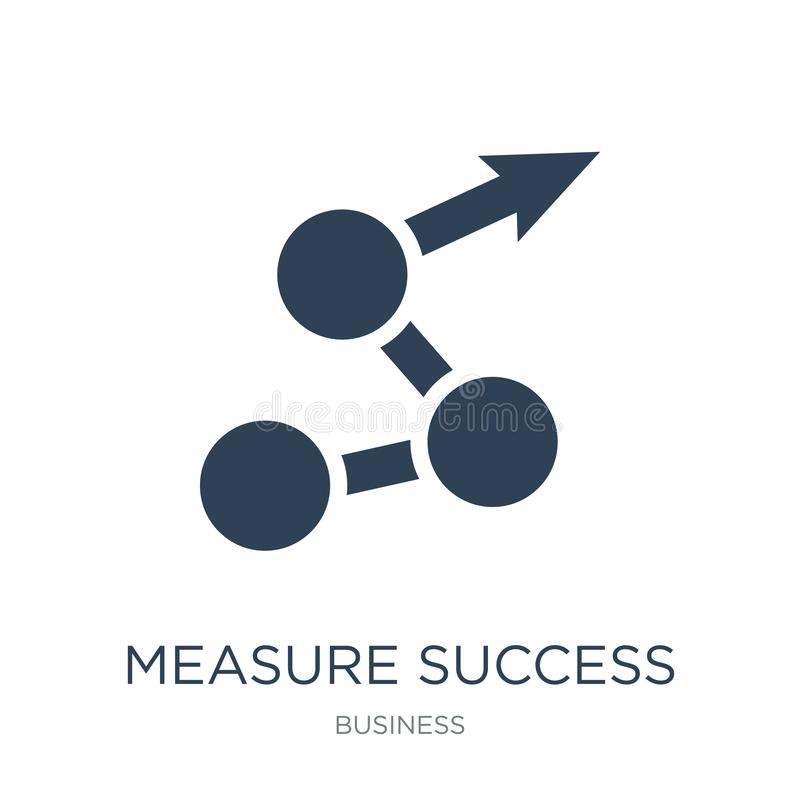 Measure success icon in trendy design style. measure success icon isolated on white background. measure success vector icon simple. And modern flat symbol for stock illustration