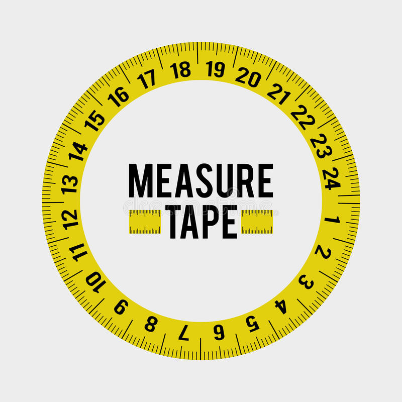 Measure tape and dieting vector illustration