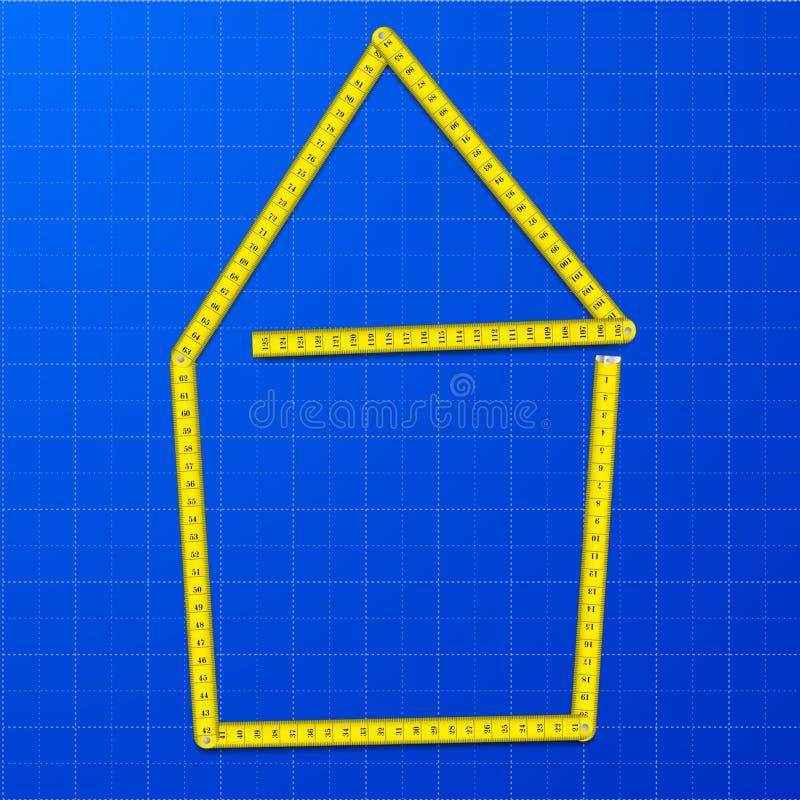 Measure tape house royalty free illustration