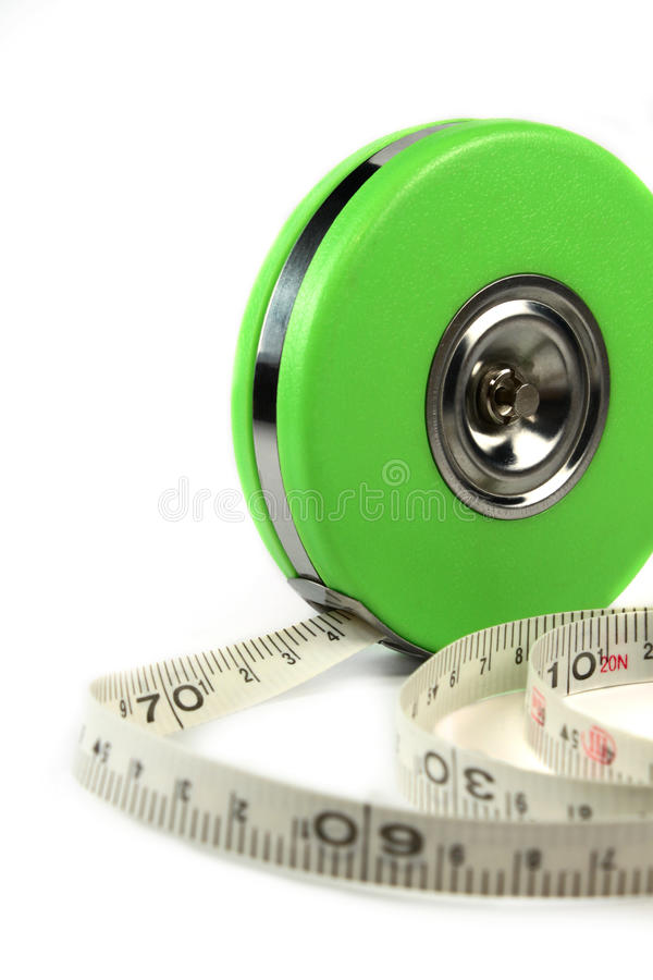 Download Measure tape isolated stock photo. Image of long, measure - 12180832