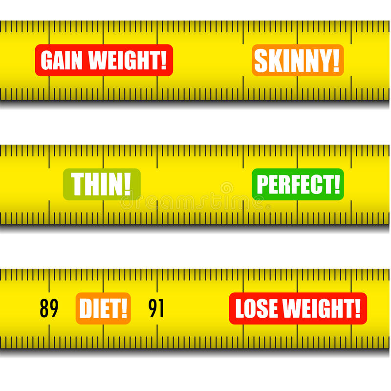 Measure tape messages vector illustration