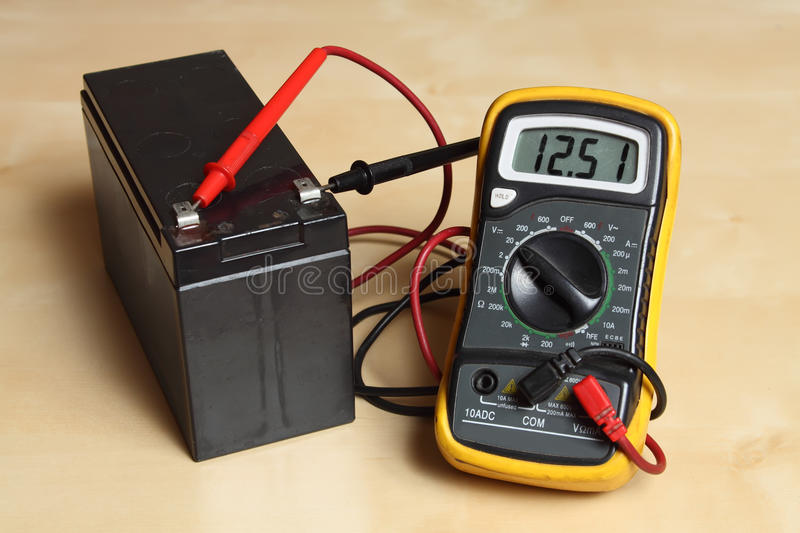 measure the voltage at the battery stock image image of experiment voltmeter 36363915. Black Bedroom Furniture Sets. Home Design Ideas