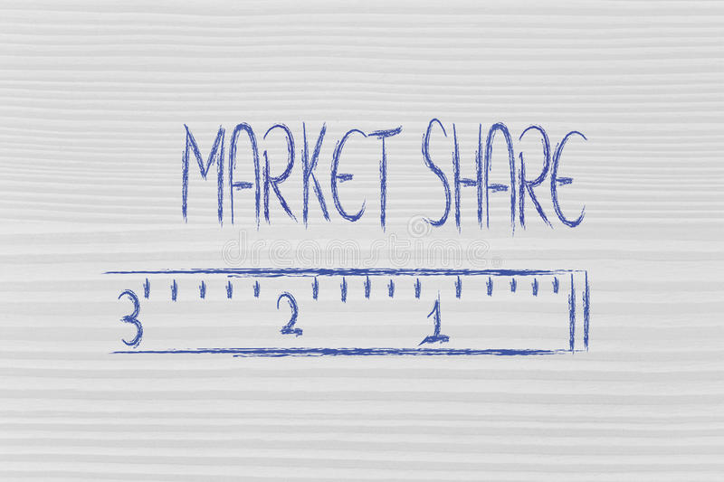 Measure your market share royalty free stock image