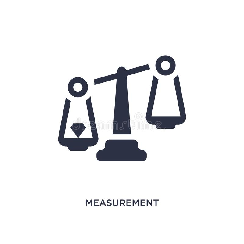 measurement icon on white background. Simple element illustration from jewelry concept vector illustration