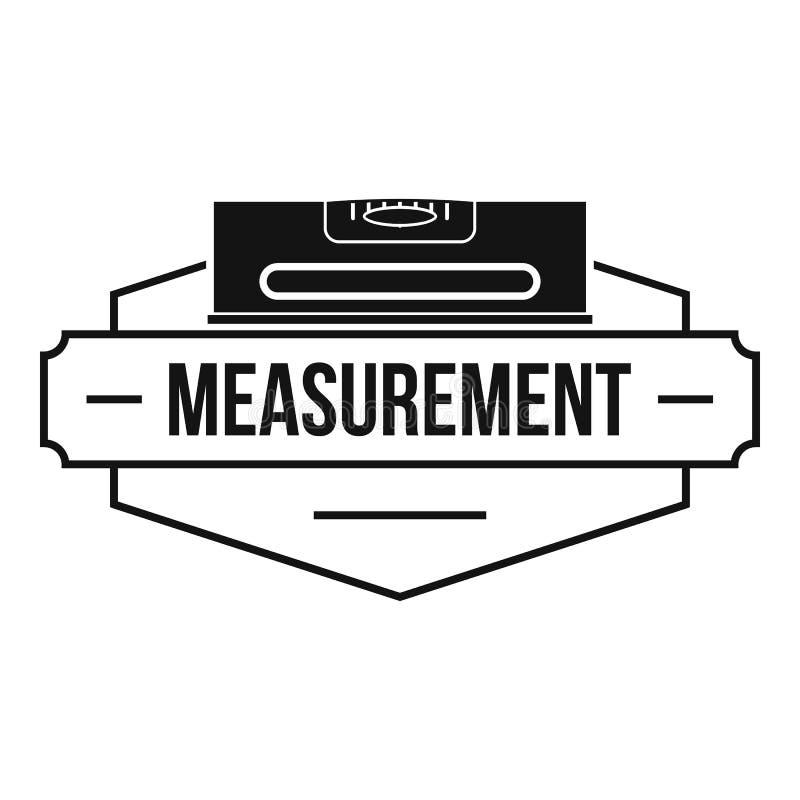 Measurement level logo, simple black style. Measurement level logo. Simple illustration of measurement level vector logo for web vector illustration