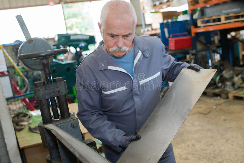 Measurement metal parts mechanic engineer. Measurement of metal parts mechanic engineer royalty free stock image