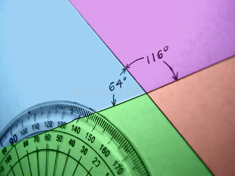 Measuring Angles royalty free stock image