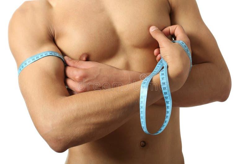 Measuring Biceps Stock Photo