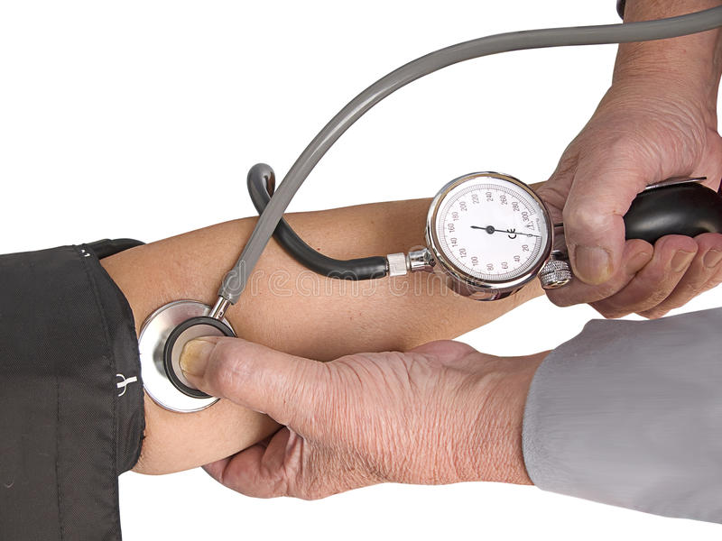 Measuring the blood pressure royalty free stock photo