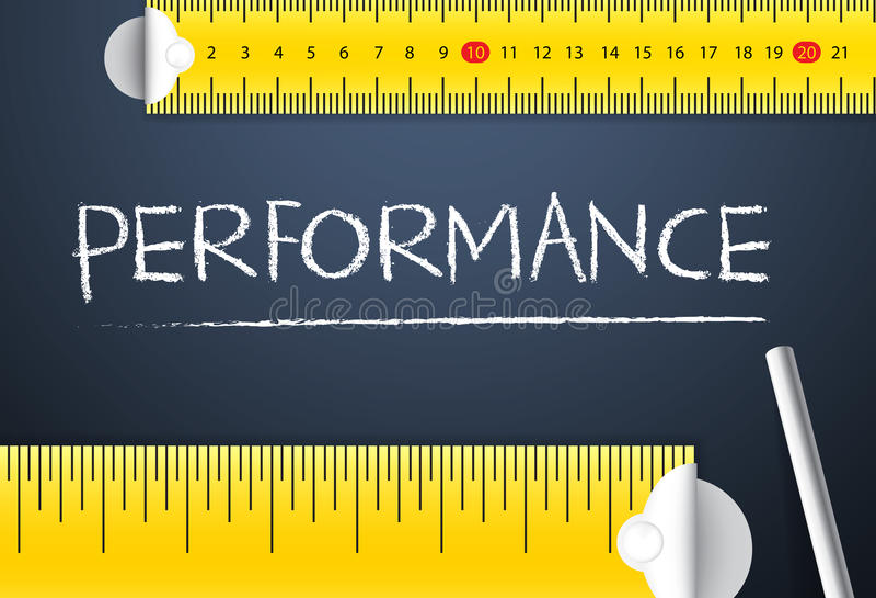 Measuring Business Performance vector illustration