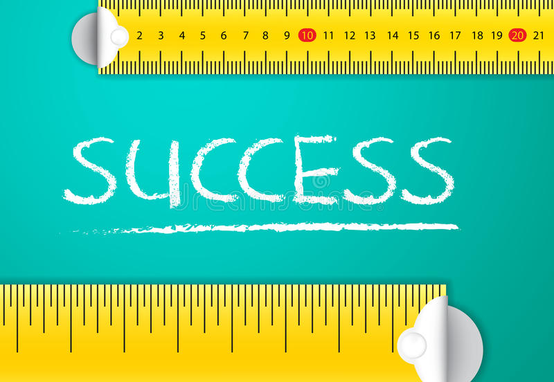 Measuring Success stock photo