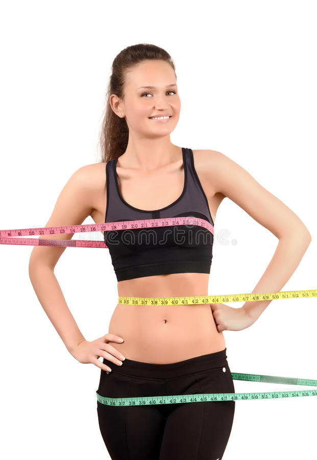 Free Measuring Bust, Waist, Hips. Stock Photography - 34747122