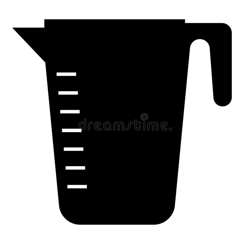 Measuring capacity cup icon black color illustration flat style simple image. Measuring capacity cup icon black color vector illustration flat style simple image stock illustration