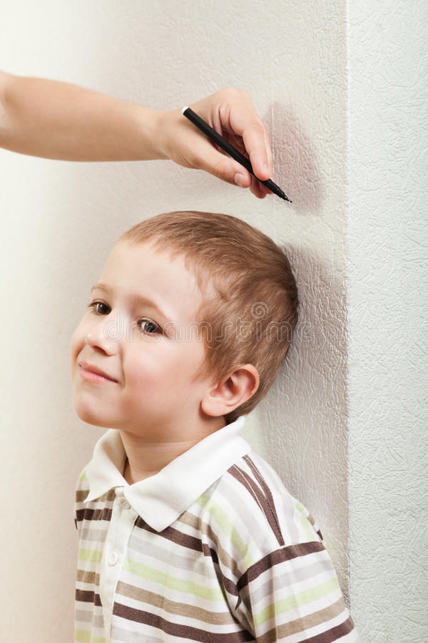 Download Measuring child growth stock image. Image of caucasian - 20234527