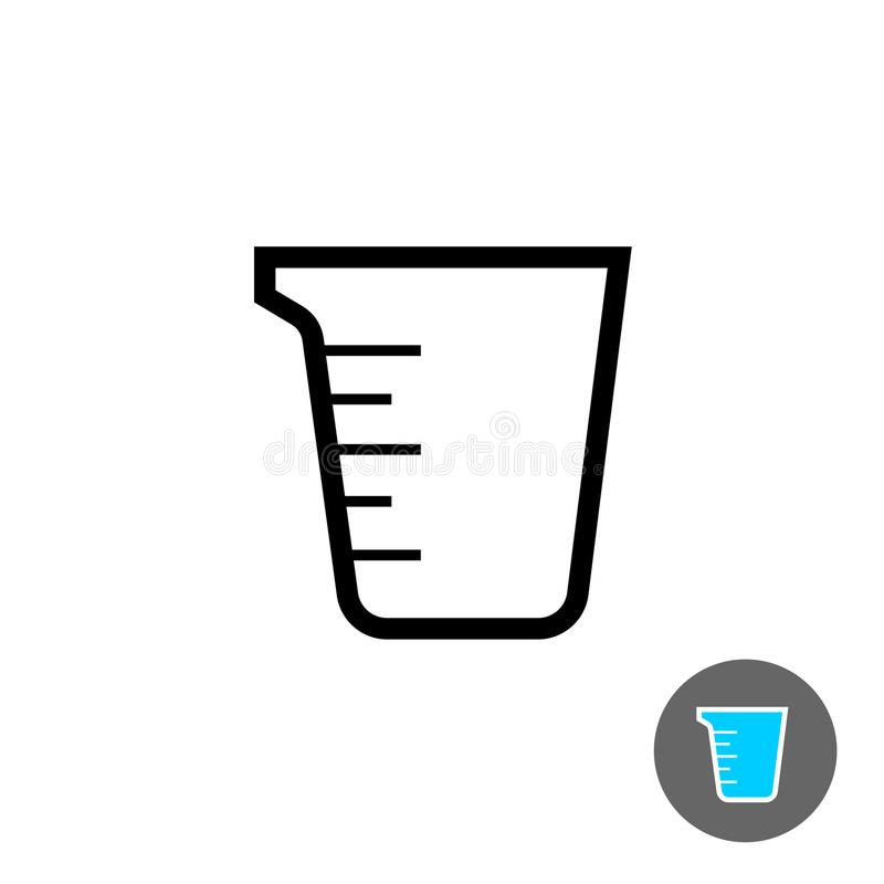 Measuring cup empty icon. Outline style symbol vector illustration