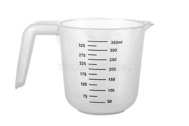Measuring Cup. Empty Measuring Cup isolated on white background royalty free stock image