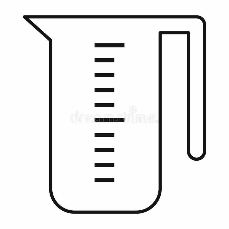 measuring cup icon outline style stock vector illustration of rh dreamstime com  free clipart measuring cup