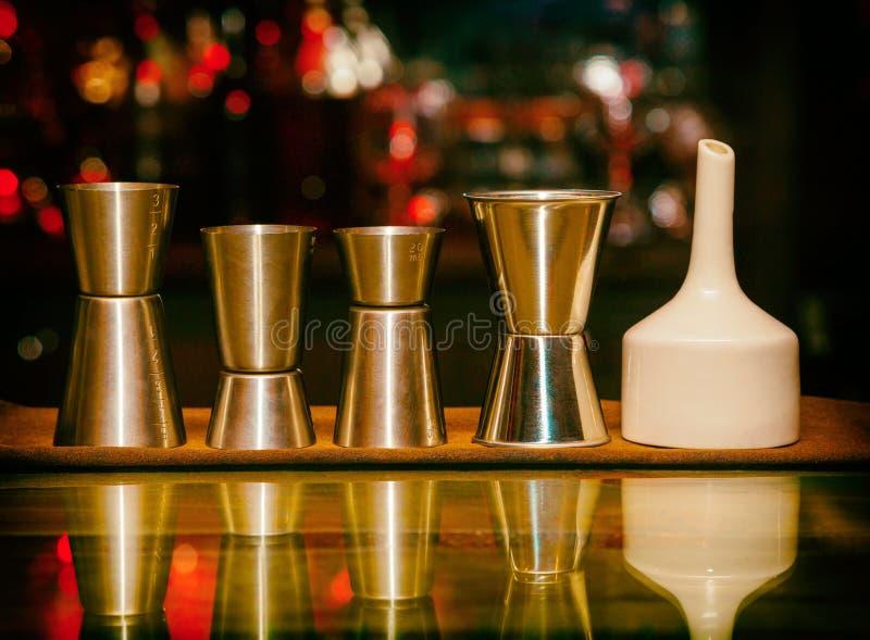 Measuring cup, Sheker set, bar royalty free stock images