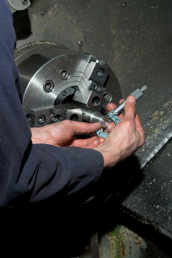 Free Measuring Diameter On Lathe Royalty Free Stock Image - 8747326