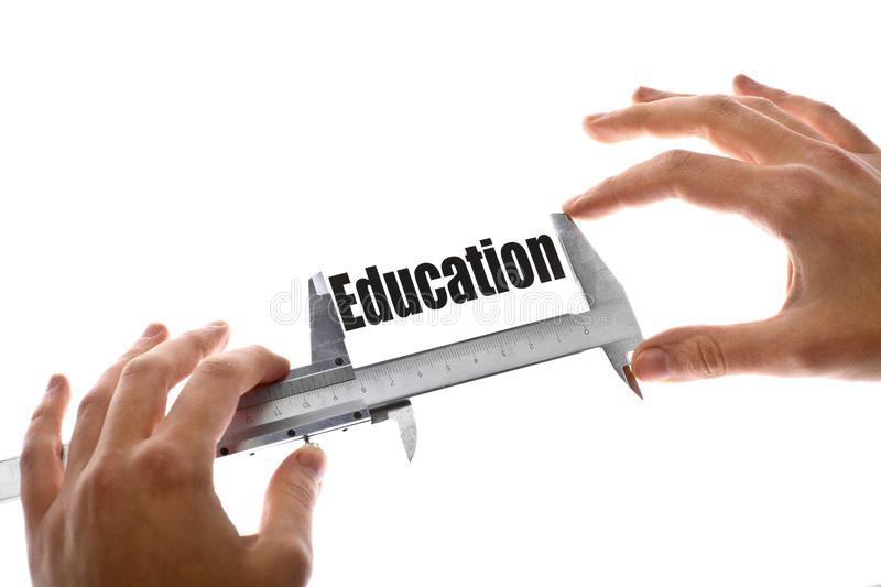 Measuring education stock images