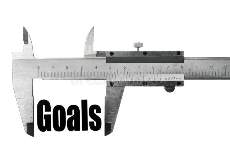 Measuring goals stock photo