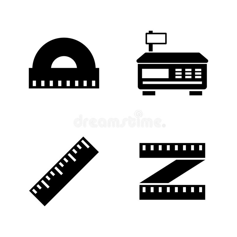 Measuring Instrument. Simple Related Vector Icons vector illustration